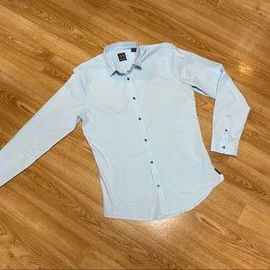Armani EXchange light blue slim fit dress shirt